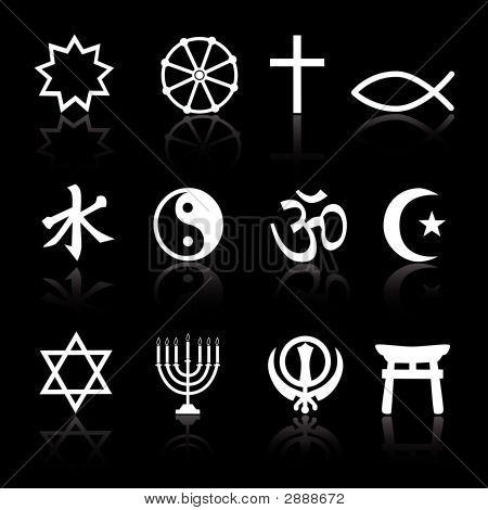 Religioussymbols_Reflectonblack