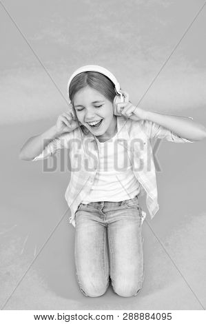 Childhood Happiness. Mp3 Player. Small Kid Listen Ebook, Education. Childrens Day. Audio Technology.