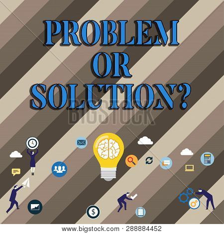 Conceptual Hand Writing Showing Problem Or Solutionquestion. Business Photo Showcasing Think Solve A