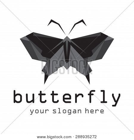 Butterfly Icon Isolated On White Background.colorful Butterfly. Butterfly Icon In Trendy Design Styl