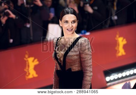 Juliette Binoche attends the 'The Kindness Of Strangers' premiere during the 69th Berlinale International Festival Berlin at Berlinale Palace on February 07, 2019 in Berlin, Germany