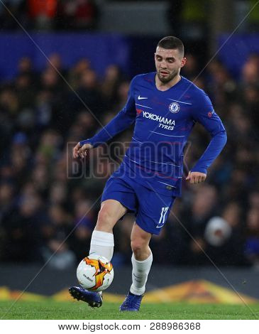 LONDON, ENGLAND - MARCH 7 2019: Mateo Kovacic during the Europa League match between Chelsea and Dynamo Kyiv at Stamford Bridge.