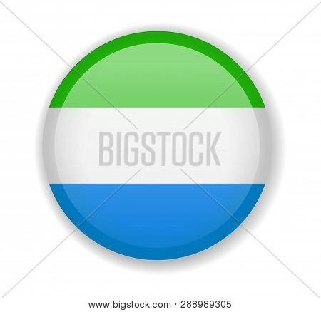 Sierra Leone Flag Round Bright Icon On A White Background