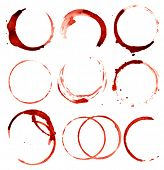 isolated wine stains poster