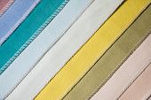 Abstract diagonal textile background multicolored stripes from factory upholstery textiles for furniture poster