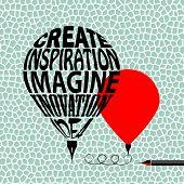 Creative balloon pen poster