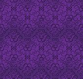 seamless wallpaper pattern in shades of purple with black pattern poster