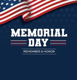 Happy Memorial Day Background. National American Holiday Illustration. Vector Memorial Day Greeting