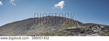 Ben Vorlich (beinn Mhùrlaig) - A Rocky Path In Scottish Mountains Leading To The Summit. Beautiful S
