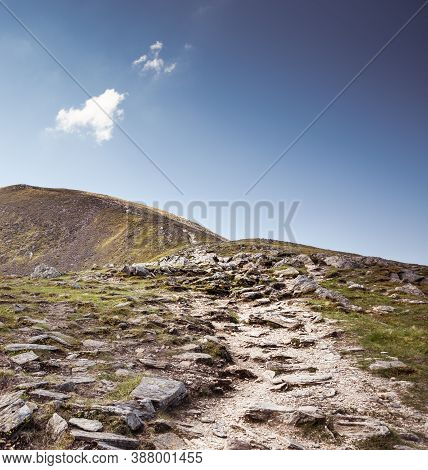 A Rocky Path Leading To The Summit Of Ben Vorlich Located In The Southern Part Of The Highlands Of S