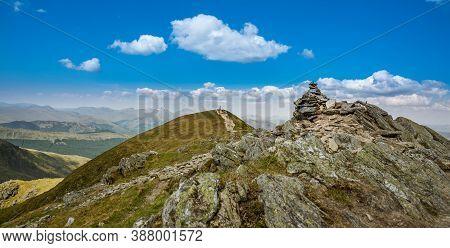 Summit Of Ben Vorlich In Scotland - One Of The Most Popular Hillwalk From Loch Earn