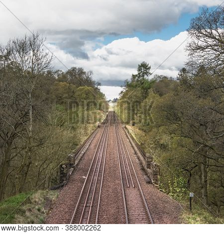 A Set Of Standard Railroad Tracks 1435 Mm Wide And Bridge - Typical Railroad