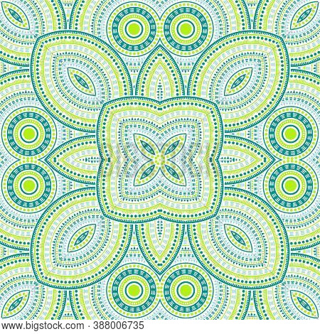 Abstract Portugese Azulejo Tile Seamless Rapport. Ethnic Geometric Vector Motif. Quilt Print Design.