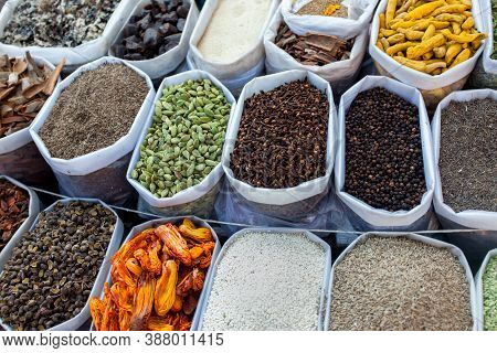 Indian S Various Spices For Sell In Market At Puna,india.