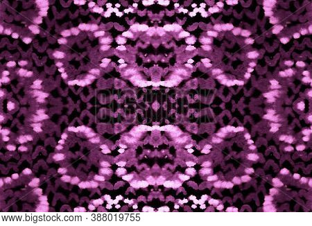 Seamless Snake Skin. Python Or Cobra Wild Surface. Jungle Exotic Wallpaper. Pink And Black Colors. D