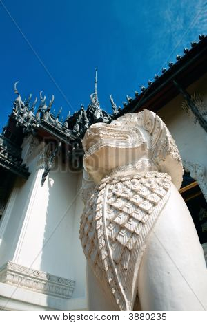 The Statue Lion Or Singha Thailand
