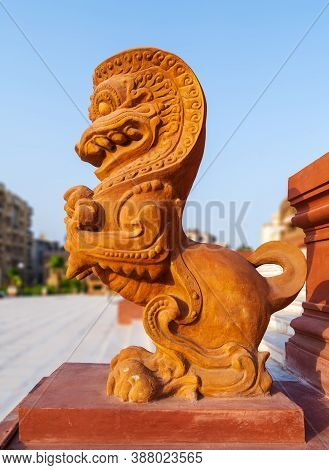 Dragon Statue, An Indonesian Sculpture, In Front Of Baron Empain Palace, A Historic Mansion Inspired