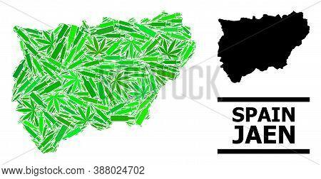 Addiction Mosaic And Solid Map Of Jaen Spanish Province. Vector Map Of Jaen Spanish Province Is Shap