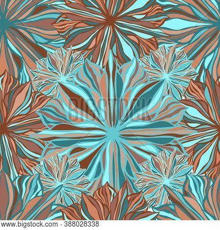 Vector Colorful Pattern Colorful Psychedelic Design Of Lined Abstract Flowers