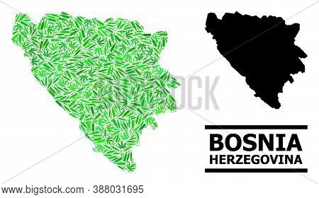 Drugs Mosaic And Solid Map Of Bosnia And Herzegovina. Vector Map Of Bosnia And Herzegovina Is Done F