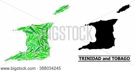 Addiction Mosaic And Usual Map Of Trinidad And Tobago. Vector Map Of Trinidad And Tobago Is Construc