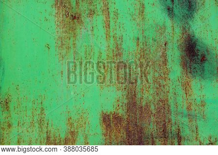 Background Of Peeling Paint And Rusty Old Meta.