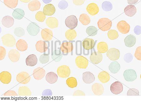 Children Wallpaper. Modern Birthday Confetti. Multicolor Child Paper. Watercolor Blots Repeat. Polka