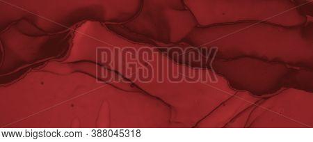Grunge Blood Background. Rose Fluid Banner. Halloween Spatter Black. Watercolor Maroon Pattern. Bloo