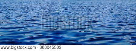Nice Blue Water Ripples. Blue Water Surface. Crystal Clear Water Ripples.