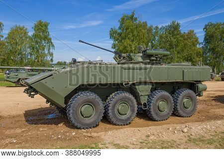 Alabino, Russia - August 25, 2020: Infantry Fighting Vehicle К-17 On