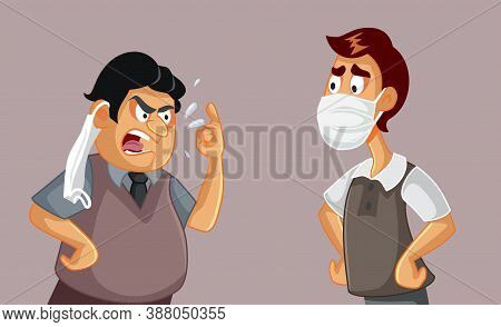 Two Men In An Argument Insulting Each Other