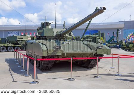 Moscow Region, Russia - August 25, 2020: The Newest Russian Tank