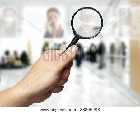 Personalwesen-Konzept: auf der Suche des besten Mitarbeiters