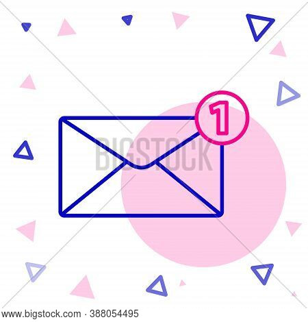 Line Envelope Icon Isolated On White Background. Received Message Concept. New, Email Incoming Messa