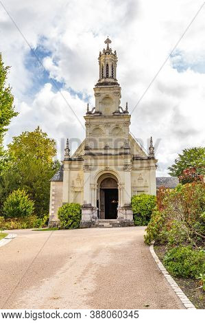 Eglise Saint Louis De Chambord Beside The Famous Chambord Castle In Loire Valley, Centre Valle De Lo