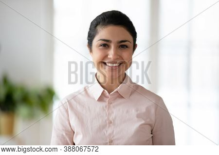 Profile Picture Of Smiling Indian Female Employee