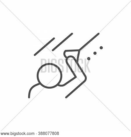 Physical Exercises Line Outline Icon Isolated On White. Vector Illustration