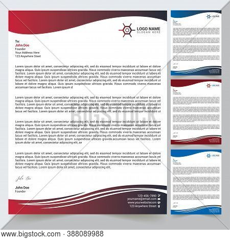 Letterhead Design Template With Vector Format For Any Company And Business