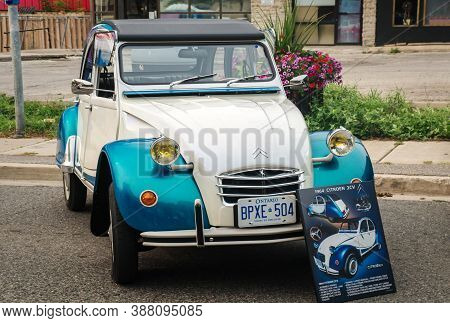 Toronto, Canada - 08 18 2018: 1964 Citroen 2cv Oldtimer Car Made By French Automobile Manufacturer C