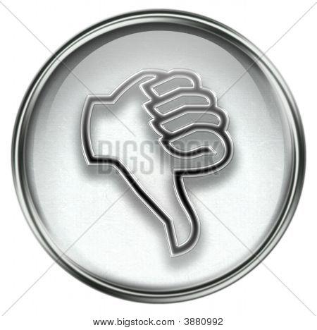 Thumb Down Icon Grey
