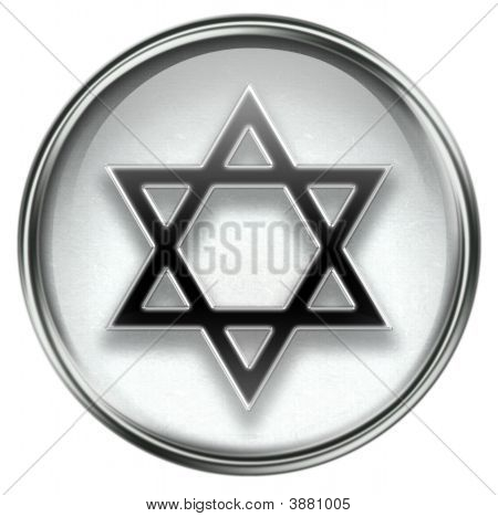 David Star Icon Grey
