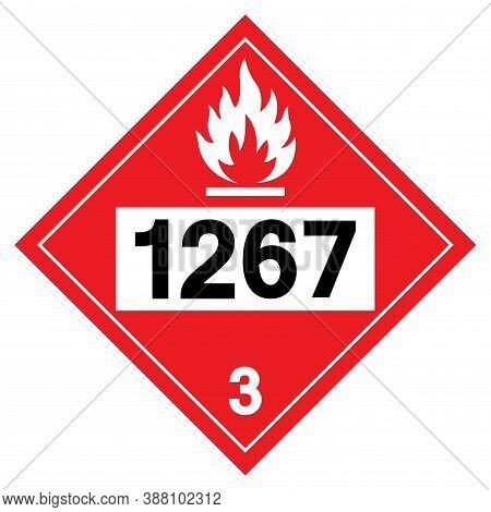 Class 3 Petroleum Crude Oil Un1267 Symbol Sign, Vector Illustration, Isolate On White Background, La