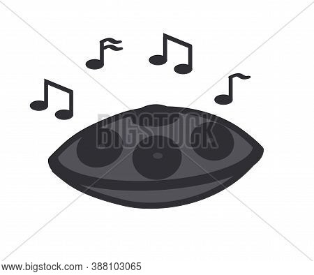 Hand Drum On A White Background. An Object. Vector Illustration.