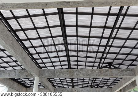 Roof Top Of Industrial, Roof Structures Of Industrial Building. Structural Of Roof Industrial.