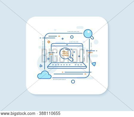 Skin Condition Line Icon. Abstract Vector Button. Search Magnifier Sign. Skin Condition Line Icon. L