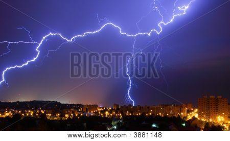 Lightning During a Night Storm