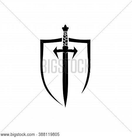 Cross Swords, Saber And Blade Logo Icon Flat Simple Vector Symbol And Bonus Icon