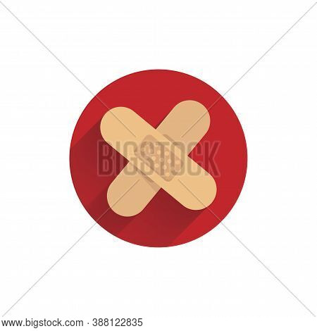 Wound Patch Colorful Flat Icon With Shadow. Medical Patch Icon