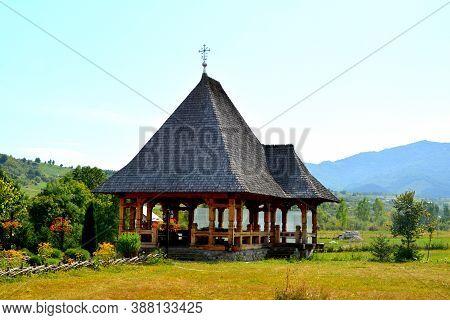Monastery Trei Ierarhi, In Borsa , Maramures, Transylvania. Orthodox Churc.