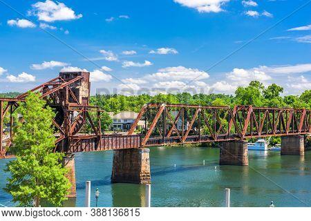 Augusta, Georgia, USA train bridge.